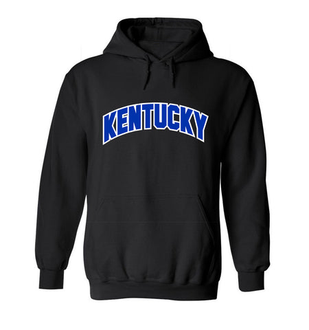 JCS Black Arch Kentucky State Pride Hooded Sweat Shirt