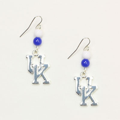 Kentucky Logo Bead Earrings By Seasons Jewelry