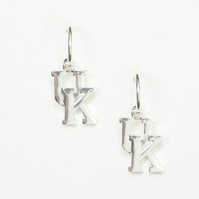 Kentucky Silver Logo Hoop Earrings By Seasons Jewelry
