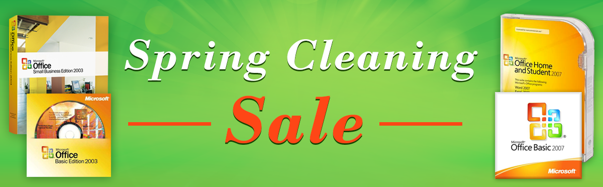 Spring Cleaning Software Super Sale