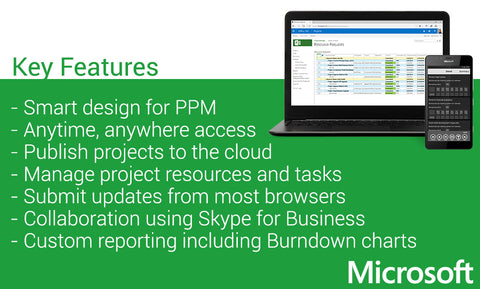 Microsoft Project 2016 Professional Key Features