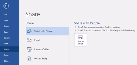 microsoft office, word, word 2016, share, share with people