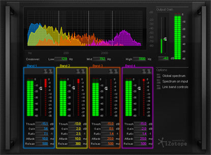 Mastering and Repair Suite powered by iZotope