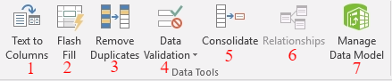 excel 2016, data, data tools