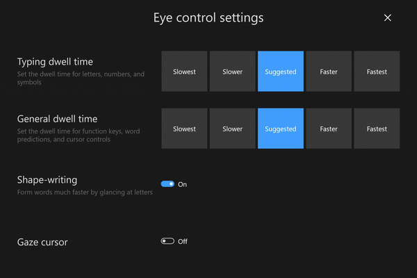 eye control, windows 10, microsoft, my choice software