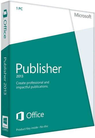 Microsoft Publisher 2013 Retail Box - MyChoiceSoftware.com