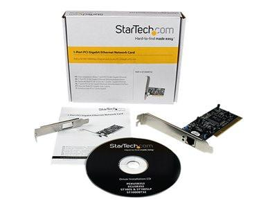 StarTech.com 1 Port PCI 10/100/1000 32 Bit Gigabit Ethernet Network Adapter Card - Network adapter - PCI - Gigabit Ethernet - MyChoiceSoftware.com