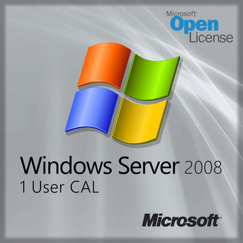 Microsoft Windows Server 2008 License 1 user CAL Open License