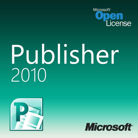 Microsoft Publisher 2010 Open License | MyChoiceSoftware.com