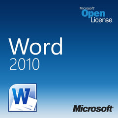 Microsoft Office Word 2010 Open License