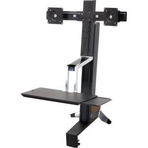 Ergotron Workfit-S Dual Sit-Stand Workstation - MyChoiceSoftware.com