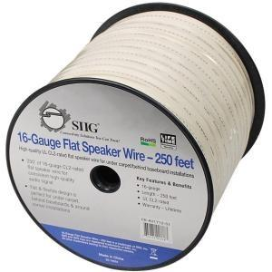 SIIG Flat Speaker Wire - Bulk speaker cable - 16 AWG - 250 ft - white - MyChoiceSoftware.com