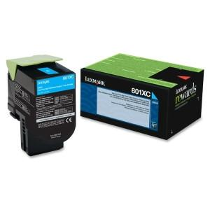 Lexmark Yield Return Program Toner Cartridge Cyan 801XC CX510 4k black - MyChoiceSoftware.com