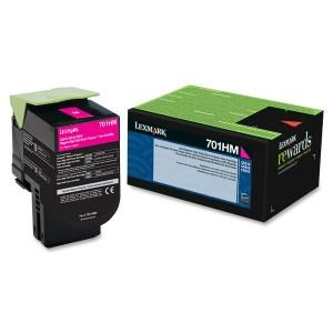 Lexmark Yield Return Program Toner Cartridge Magenta 701HM CS510/310/410 3k page - MyChoiceSoftware.com