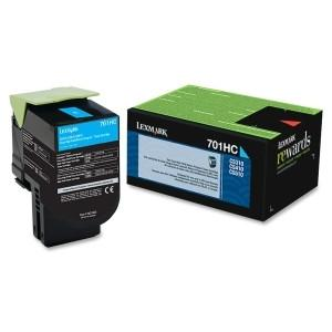 Lexmark Yield Return Program Toner Cartridge Cyan 701HC CS510,410,310 3k page - MyChoiceSoftware.com