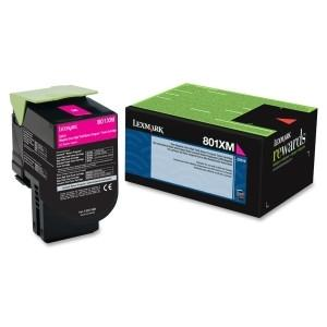 Lexmark Yield Return Program Toner Cartridge Magenta 801XM CX510 8k page - MyChoiceSoftware.com