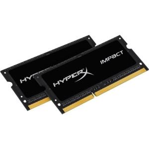 Kingston HyperX Impact Black Series - DDR3L - 16 GB : 2 x 8 GB - SO DIMM 204-pin - 1600 MHz / PC3L-12800 - CL9 - 1.35 / 1.5 V - unbuffered - non-ECC - MyChoiceSoftware.com