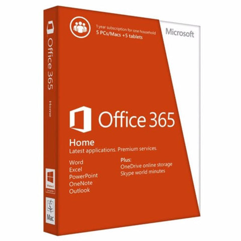 Microsoft Office 365 Home - 32/64 Bit - 1 Yr (5 PC or Mac) - MyChoiceSoftware.com - 1