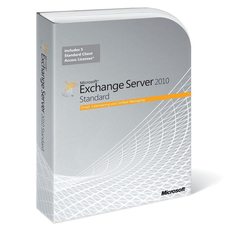 Microsoft Exchange Server 2010 Standard Edition - 64-bit + 5 CALs - MyChoiceSoftware.com