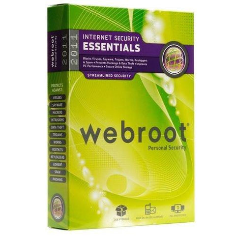 Webroot Internet Security Complete 2011 3 Pcs Retail Box