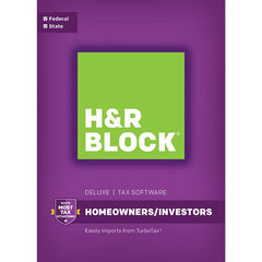 H&R Block Tax Software Deluxe Homeowners / Investors Retail Box - MyChoiceSoftware.com
