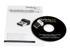 StarTech.com USB 150Mbps Mini Wireless N Network Adapter - Network adapter - USB 2.0 - 802.11b, 802.11g, 802.11n - MyChoiceSoftware.com