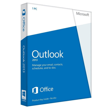 Microsoft Outlook 2013 Retail Box Product Key Card PKC.