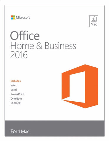 Microsoft Office for Mac Home and Business 2016 Retail Box - 1 User - MyChoiceSoftware.com - 1