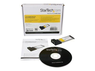 StarTech.com 1 Port ExpressCard Gigabit Laptop Ethernet NIC Network Adapter Card - Network adapter - ExpressCard - Gigabit Ethernet - MyChoiceSoftware.com
