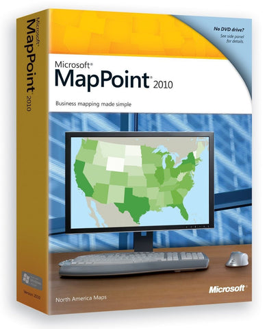 Microsoft MapPoint 2010 - North America Retail Box - MyChoiceSoftware.com