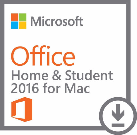 Microsoft Office 2016 Home and Student for Mac Retail Box