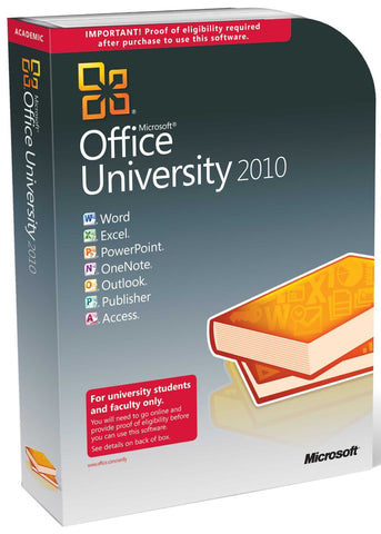 Microsoft Office University 2010 - Retail Box - MyChoiceSoftware.com - 1