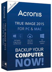 Acronis True Image 2015 PC/MAC - 3 Users Retail Box - MyChoiceSoftware.com