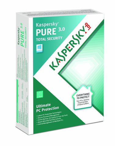 Kaspersky Pure Total Security Version 3.0 - 3 Users Download - MyChoiceSoftware.com