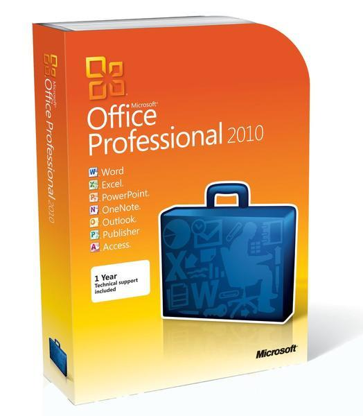 Microsoft office professional 2010 2 pc full retail (download.