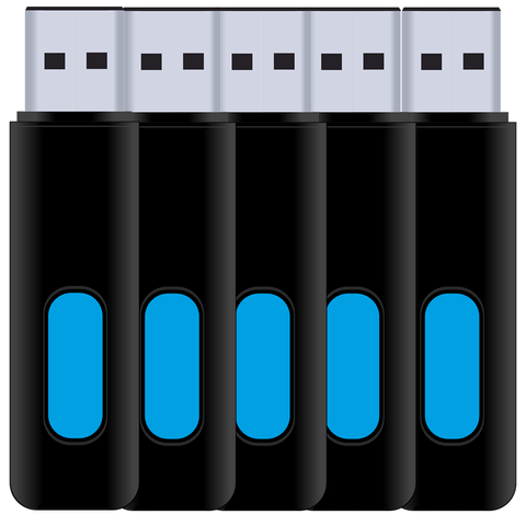 8GB USB Flash Drive - 5 Pack