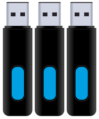 8GB USB Flash Drive - 3 Pack