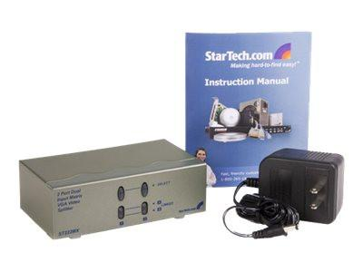 StarTech.com 2 Port Matrix High Resolution VGA Video Splitter - Video splitter - 2 x VGA + 2 x VGA - desktop - for P/N: ST121RGB, ST121EXTGB, ST1214TGB, ST121R, ST121EXT, ST1214T - MyChoiceSoftware.com