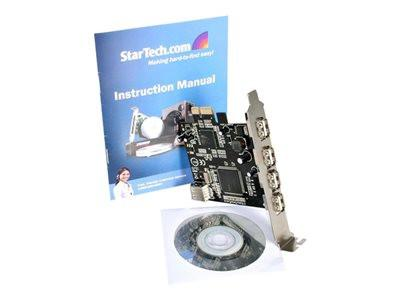 StarTech.com 5 Port PCI Express USB 2.0 Adapter Card - USB adapter - PCIe - USB, USB 2.0 - 5 ports - for P/N: SAT3510U2VGB, SAT3510U2V, FCREADHC - MyChoiceSoftware.com
