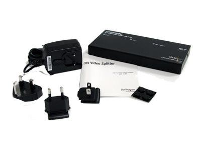 StarTech.com 2 Port DVI Video Splitter with Audio - Video/audio splitter - 2 x DVI + 2 x audio - desktop - MyChoiceSoftware.com