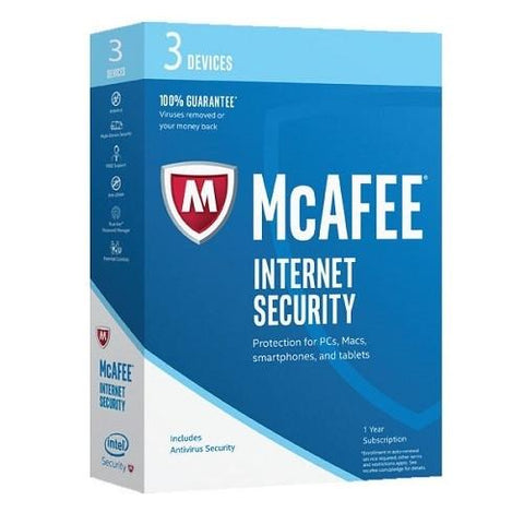McAfee Internet Security 2018 3 Devices
