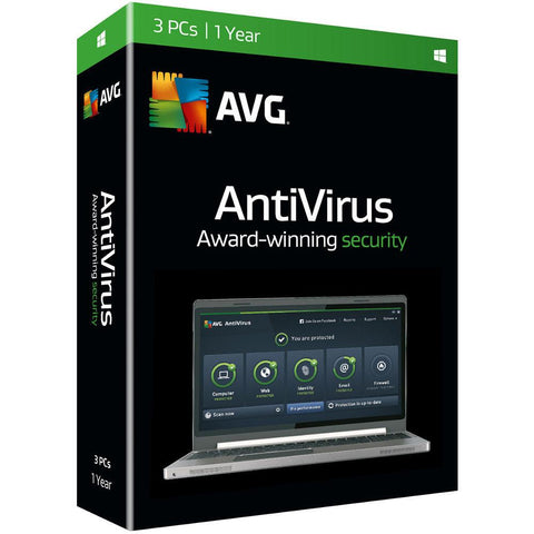 (Renewal) AVG Antivirus 3 Users 1 Year