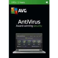 (Renewal) AVG Antivirus - 3 PC - 2 Years Retail Box - MyChoiceSoftware.com
