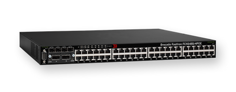 Brocade FastIron CX 648S-HPOE - Switch - L3 - managed - 48 x 10/100/1000 (PoE) + 4 x shared SFP + 2 x XFP - rack-mountable - PoE - MyChoiceSoftware.com