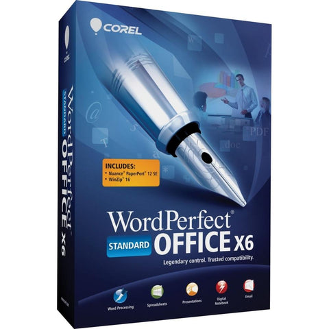 Corel WordPerfect X6 Standard Retail Box - MyChoiceSoftware.com