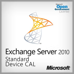 Exchange Server 2010 Standard Device CAL  Open Gov. 381-04208