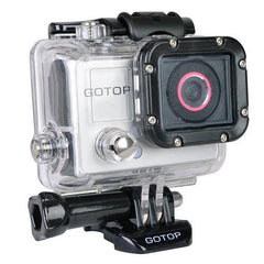"Gotop Silver Edition Full HD 1080p Sports Action Waterproof Mountable Camera w/1.5"" LCD, mini-HDMI & microSD Slot"