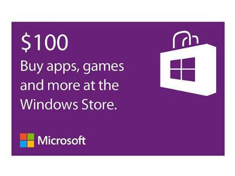 Microsoft Microsoft Windows Store Gift Card $100 - MyChoiceSoftware.com