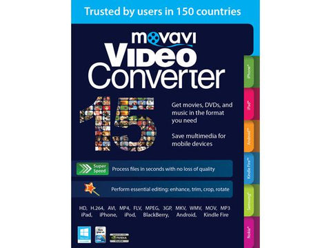 Movavi Software Movavi Video Converter 15 Bus Win Esd - MyChoiceSoftware.com