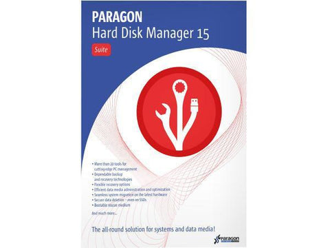 Paragon Software Group Corp Hard Disk Mgr 15 Suite Wrkstn Ed Esd - MyChoiceSoftware.com
